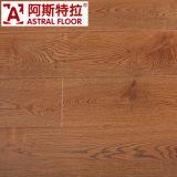 Suelo laminado de madera de 12 mm de grano (u-groove) con cera y subpieza / (AS1036)
