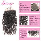 человеческие волосы девственницы Kinky курчавого Silk низкопробного закрытия 4X4 бразильские