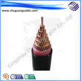 XLPE изолировало обшитый PVC средний силовой кабель напряжения тока