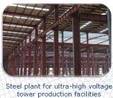 Estructura de acero para el edificio del taller
