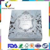 Caisse d'emballage cosmétique sensible de papier de couleur, estampage chaud, gravant en relief