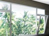 Белый цвет алюминиевый Опрокидывать-Поворачивает окно с стеклом двойной застеклять Tempered