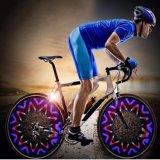 Una nuova lampada dei 42 della maschera di colore della bicicletta del vento del fuoco della rotella della decorazione raggi della lampada 16LED