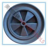 정원 많은 손수레를 위한 12X2 단단한 고무 바퀴의 6개의 모형