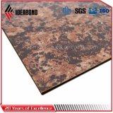 PVDFの石の終わりのアルミニウム合成物はパネルをはめる外壁のクラッディング(AE-501)に
