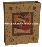 クリスマスのギフトのクラフト紙袋
