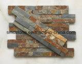 10*40cm 최신 판매 자연적인 까만 슬레이트 건물 돌 (HHSC10X40-002)