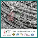Galvanisés par mètre de longueur de fil barbelé/ 12X14 fils barbelés