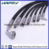 Ęr en caoutchouc hydraulique tressé d'en 853 du tuyau DIN de fil d'acier