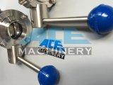 Продетая нитку клапан-бабочка нержавеющей стали санитарная (ACE-DF-2V)