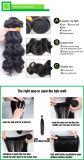 Cheveu humain brésilien de Remy de cheveu de Vierge de l'onde 100% de corps