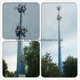 8等級の地震のモノラルポーランド人タワーに対するQ235鋼鉄力