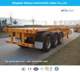 3 Vrachtwagen van de Aanhangwagen van het Skelet van Contrainer van assen 40FT de Semi