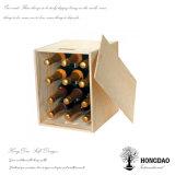 Doos van de Flessen van de Wijn van het Bier van de Douane van Hongdao de Houten, Verpakkende Doos _D