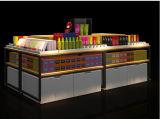Decoração Slatwall para a loja de varejo, prateleira de indicador, carrinho de indicador
