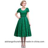Frauen-Spitze Tee-Länge Abend-Kleid-Abschlussball kleidet Partei-Kleider
