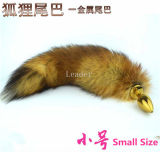 30*28mm Small Size Fox Tail Gold Anal Plug