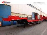 De Lage Lader van het Vervoer 4axles van het graafwerktuig/Semi Aanhangwagen Lowbed