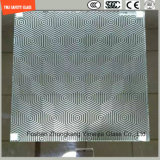 печать Silkscreen 3-19mm/кисловочный Etch/заморозили/квартира картины/согнули Tempered/Toughened стекло для двери/двери окна/ливня с сертификатом SGCC/Ce&CCC&ISO для Hotel&Home