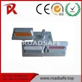 Parafusos prisioneiros de alumínio vermelhos reflexivos duráveis da estrada dos olhos de gato do marcador da estrada da segurança de tráfego