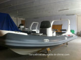 China Liya 20ft FRP Boats Barco de salvamento com motor fora de borda