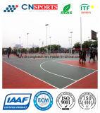 El material verde de interior / cancha de baloncesto al aire libre para el Deporte de la superficie