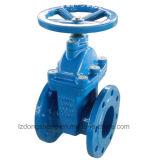Soupape à vanne Non-En hausse à flasque de tige de siège résilient d'extrémités
