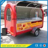 Kar van de Hotdog van de Kar van het Voedsel van de Autoped van de Aanhangwagen van de glasvezel de Commerciële