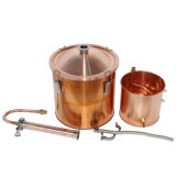 Único Copper Distiller 30 litros 8gal Still Spirits Water Álcool Oil Brewing Kit