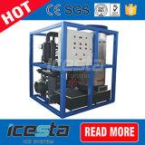 Máquina de hacer hielo del tubo comercial con la empaquetadora del hielo