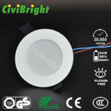Downlight LED de plástico tipo incrustado con Ce RoHS