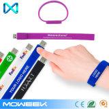 Привод вспышки ручки памяти USB силикона Wristband логоса тавра