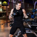 メンズ伸縮性があるスポーツのスーツの適性の一定の高品質の圧縮の摩耗