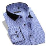 Les hommes amincissent la chemise de robe formelle en bonne santé d'affaires de la longue chemise