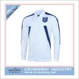Куртка футбола следа спортов людей с изготовленный на заказ вышивкой
