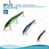 Iscas plásticas de isca de pesca Pesca pescando Lure com ganchos de agulhas Vmc (SB3012)