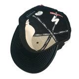Изготовленный на заказ крышка Snapback хлопка черноты логоса вышивки 3D