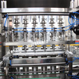 Enjuagadora automático de la botella de aceite comestible de la línea de limitación de llenado