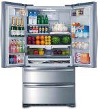 """36""""francés de la puerta de acero inoxidable heladera con freezer inferior"""
