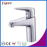 Fyeer Chrom polierte einfachen einzelnen Handle&Hole Badezimmer-Wäsche-Wannen-Bassin-Hahn-Wasser-Mischer-Hahn