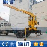 Grúa montada carro fácil del camión del auge del nudillo de la instalación