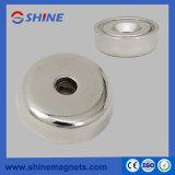 Magneet van de Pot van NdFeB van D36mm de Sterke met AsGat voor Industrieel Gebied