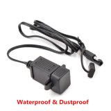防水USBケーブルのアダプターの充電器のソケットへの12Vオートバイ2.1AデュアルポートSAE
