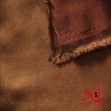 袋のための1つの側面ポリエステルスエードファブリックか服または布または靴青銅色にされる