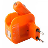 Universal 2.1A Dual EU Plug Chargeur mural Chargeur voiture