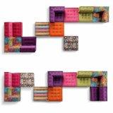 تصميم كلاسيكيّة يعيش غرفة قطاعيّ بناء أريكة ([ف895-1])