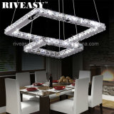 LED Crystal Modern Chandelier Pendant Lamp Jantar Luz