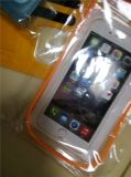 Impermeable Bolsillo del teléfono Teléfono con la bolsa de la banda de luz reflectante