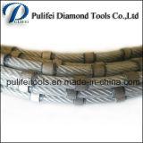 Le fil de extraction en carrière en pierre de diamant de marbre de coupage par blocs de granit a vu