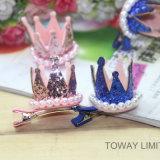 Design Pearl Crown Dog Hairpin Beauty Accessoires pour animaux de compagnie